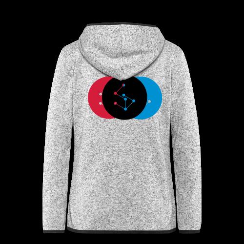 Lan Circle Woman Shirt - Women's Hooded Fleece Jacket