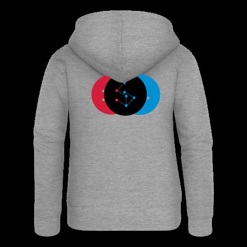 Lan Circle Woman Shirt - Women's Premium Hooded Jacket
