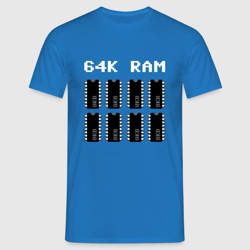 64K Ram 8bit retro power - Männer T-Shirt