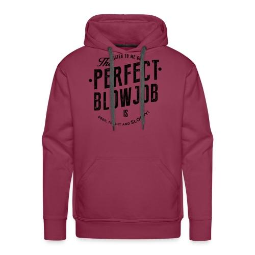 Männer Premium Hoodie - Dieses Design spricht für dich! Du wirst nie wieder in Erklärungsnot kommen, versprochen! ;) Exklusives Vintage-Designs auf schmeichelndem Burgunder. Garantierter Blickfang! Bei diesem Shirt sieht jeder zwei mal hin!