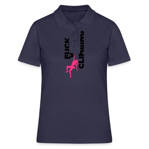 Fuck Work. Go Climbing Girl! - Women's Polo Shirt