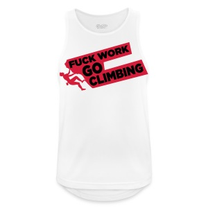 Fuck Work. Go Climbing Men! - Men's Breathable Tank Top