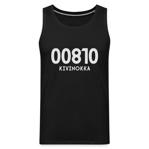 00810 KIVINOKKA - Miesten premium hihaton paita