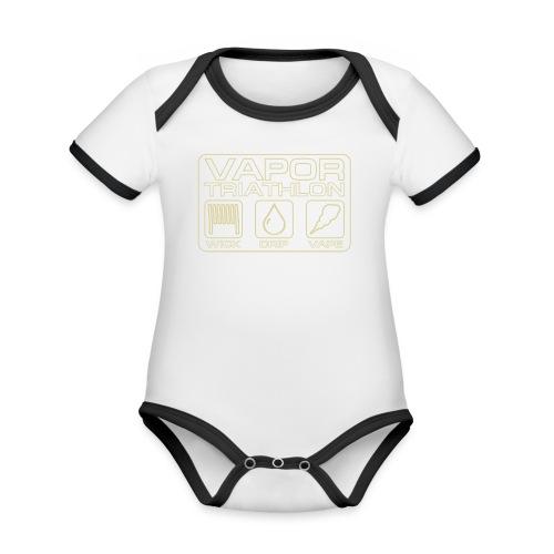 Vapor Triathlon - Baby Bio-Kurzarm-Kontrastbody