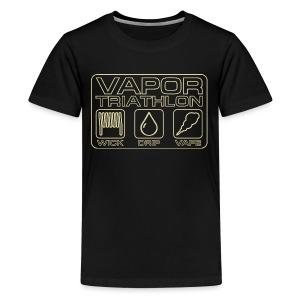 Vapor Triathlon - Teenager Premium T-Shirt