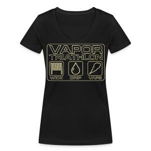 Vapor Triathlon - Frauen Bio-T-Shirt mit V-Ausschnitt von Stanley & Stella
