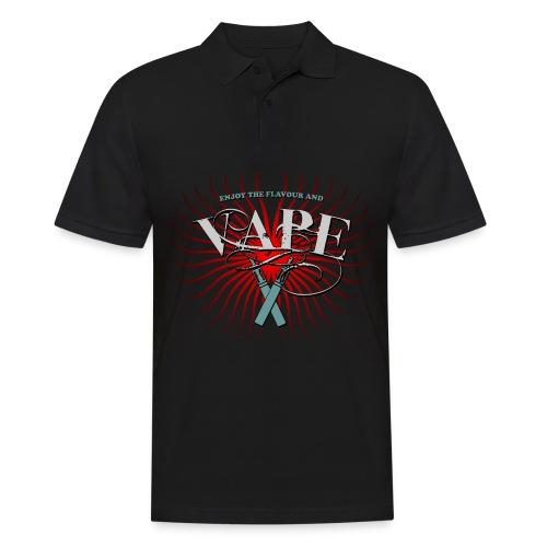 Enjoy the flavour, vape - Männer Poloshirt