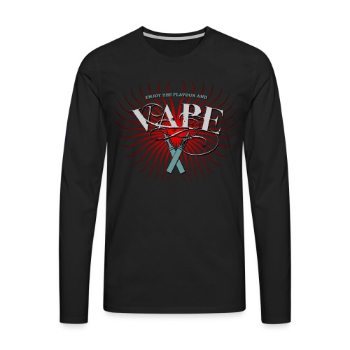 Enjoy the flavour, vape - Männer Premium Langarmshirt