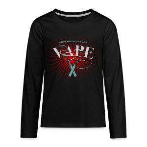 Enjoy the flavour, vape - Teenager Premium Langarmshirt