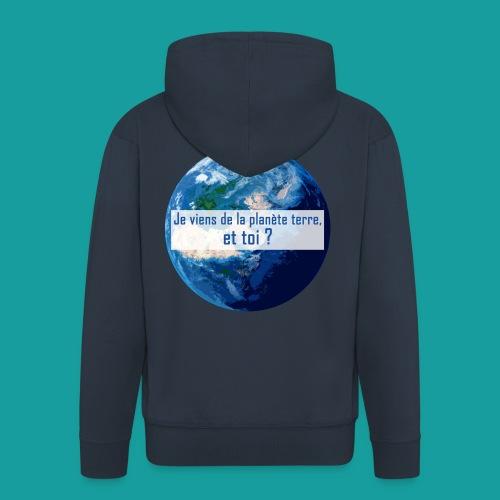Je viens de la planète terre, et toi ? - Veste à capuche Premium Homme