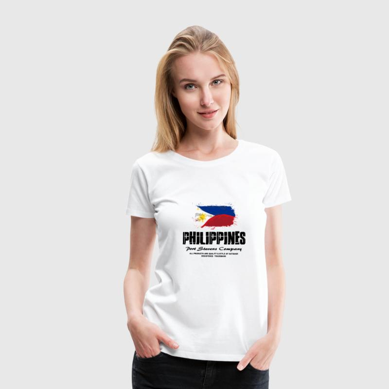 Philippines Flag Logo T-Shirts - Frauen Premium T-Shirt