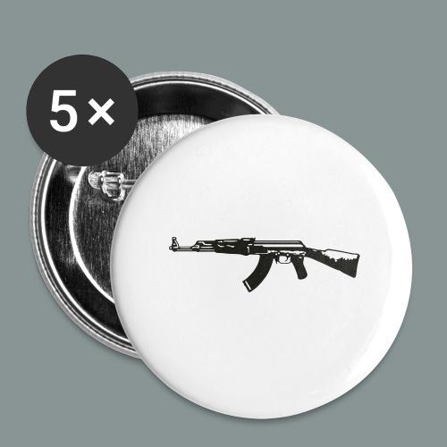 ak-47 tee teen 13+ - Buttons/Badges stor, 56 mm (5-pack)