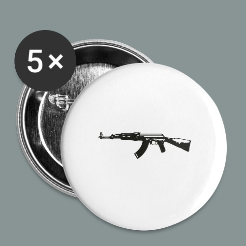 ak-47 tee teen 13+ - Buttons/Badges mellemstor, 32 mm (5-pack)