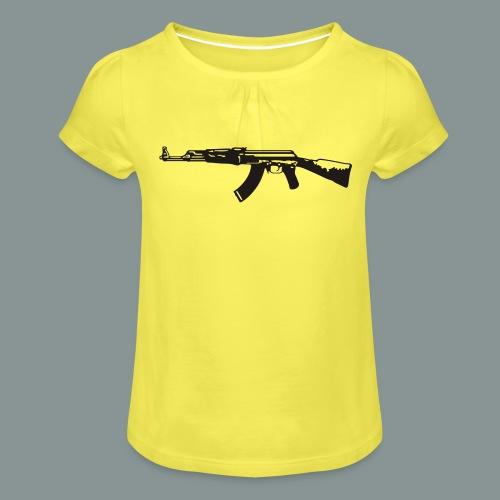 ak-47 tee teen 13+ - Pige T-shirt med flæser