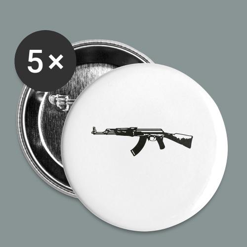 ak-47 tee teen 13+ - Buttons/Badges lille, 25 mm (5-pack)