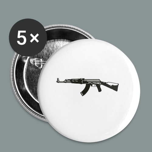 ak-47 tee teen 13+ - Buttons/Badges lille, 25 mm (5-pack)