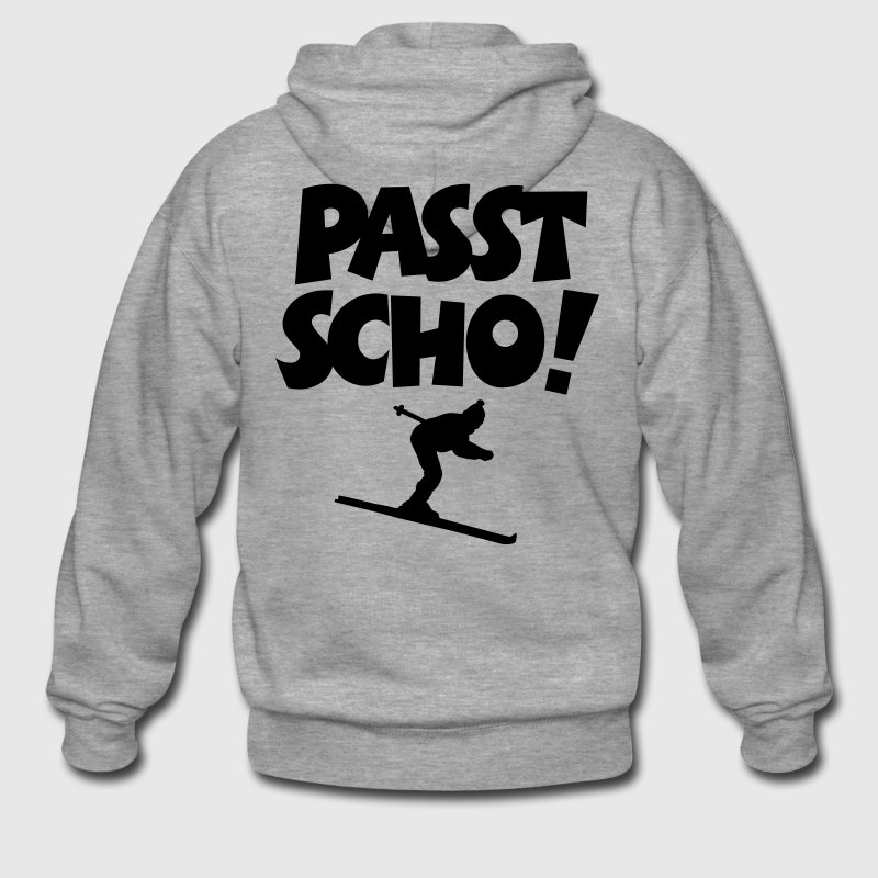 Passt Scho Skifahrer Apres Ski Pullover & Hoodies - Männer Premium Kapuzenjacke