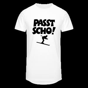 Passt Scho Skifahrer S-5XL T-Shirt - Männer Urban Longshirt