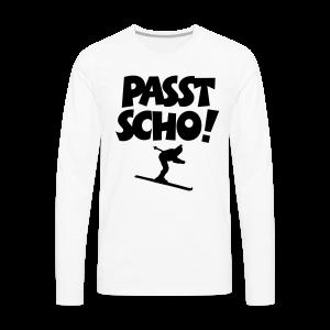 Passt Scho Skifahrer S-5XL T-Shirt - Männer Premium Langarmshirt