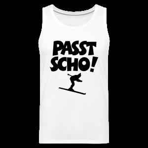 Passt Scho Skifahrer S-5XL T-Shirt - Männer Premium Tank Top