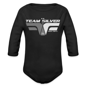 Sweat - TEAM SILVER - Club SuperPhysique - Body bébé bio manches longues