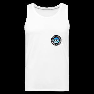 Après-Ski Instructor (Goggles/Blue) T-Shirt - Männer Premium Tank Top