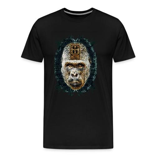 circuitgorilla head  - Männer Premium T-Shirt