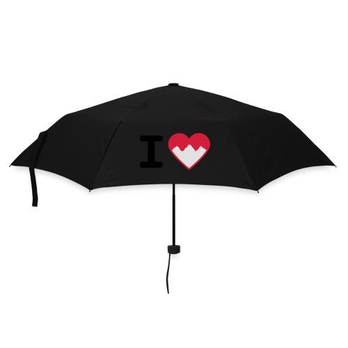 I Love Mountains - Regenschirm (klein)