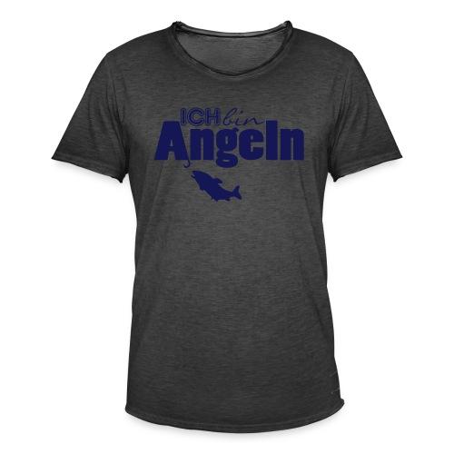 Ich bin Angeln   Anglermotiv - Männer Vintage T-Shirt