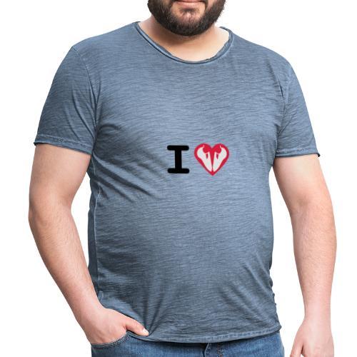 I Love Climbing - Männer Vintage T-Shirt