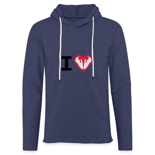 I Love Climbing - Leichtes Kapuzensweatshirt Unisex