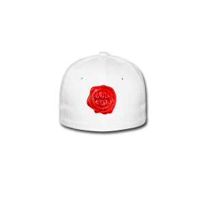 Rødt «god jul» lakksegl - Flexfit baseballcap