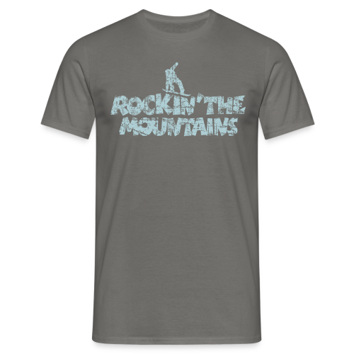 Rockin' the Mountains Snowboarder (Vintage/Hellblau) S-5XL T-Shirt - Männer T-Shirt