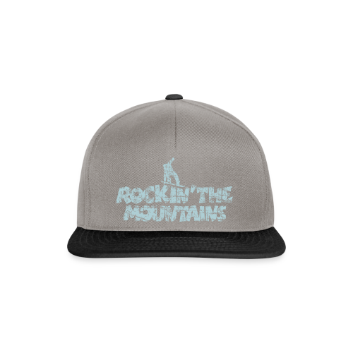Rockin' the Mountains Snowboarder (Vintage/Hellblau) S-5XL T-Shirt - Snapback Cap