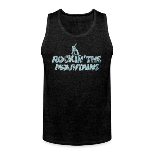 Rockin' the Mountains Snowboarder (Vintage/Hellblau) S-5XL T-Shirt - Männer Premium Tank Top