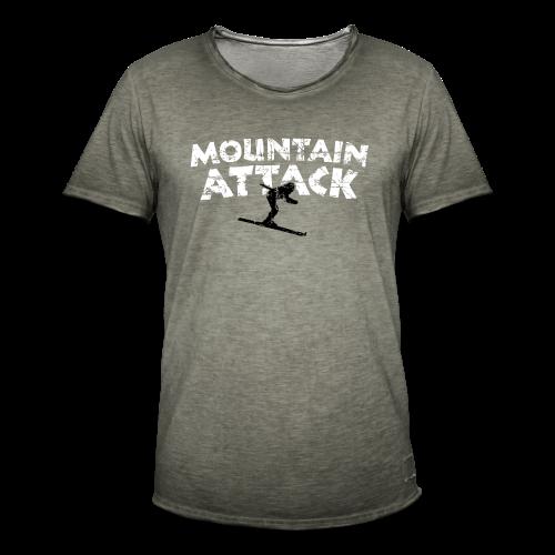 Mountain Attack Ski (Vintage Schwarz/Weiß) S-5XL T-Shirt - Männer Vintage T-Shirt
