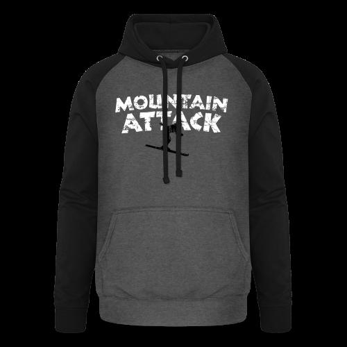 Mountain Attack Ski (Vintage Schwarz/Weiß) S-5XL T-Shirt - Unisex Baseball Hoodie