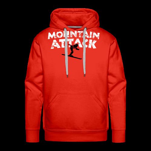 Mountain Attack Ski (Vintage Schwarz/Weiß) S-5XL T-Shirt - Männer Premium Hoodie
