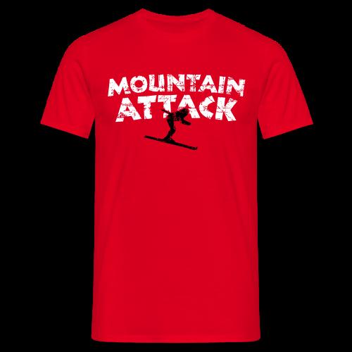 Mountain Attack Ski (Vintage Schwarz/Weiß) S-5XL T-Shirt - Männer T-Shirt