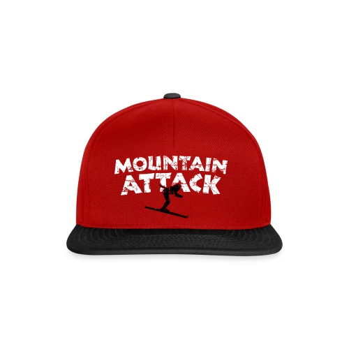 Mountain Attack Ski (Vintage Schwarz/Weiß) S-5XL T-Shirt - Snapback Cap