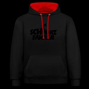 Schwarzfahrer Skifahrer Langarmshirt - Kontrast-Hoodie