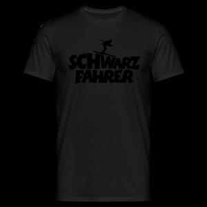 Schwarzfahrer Skifahrer Langarmshirt - Männer T-Shirt
