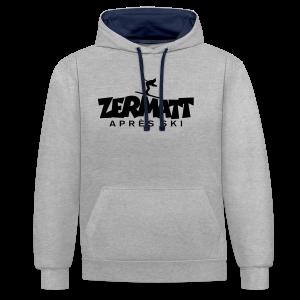 Zermatt Après-Ski T-Shirt - Kontrast-Hoodie