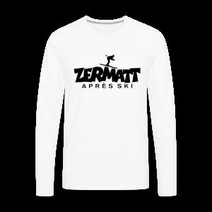 Zermatt Après-Ski T-Shirt - Männer Premium Langarmshirt