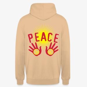 Peace Make Love not War Mach Liebe, nicht Krieg Hände Hands 1c Männer T-Shirt - Unisex Hoodie
