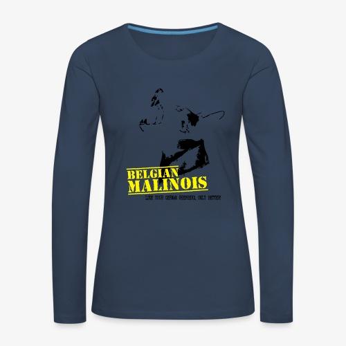K9 Malinois Damen Hoodie - Frauen Premium Langarmshirt