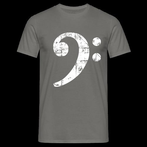 Bassschlüssel (Vintage Weiß) Bass Bio T-Shirt - Männer T-Shirt