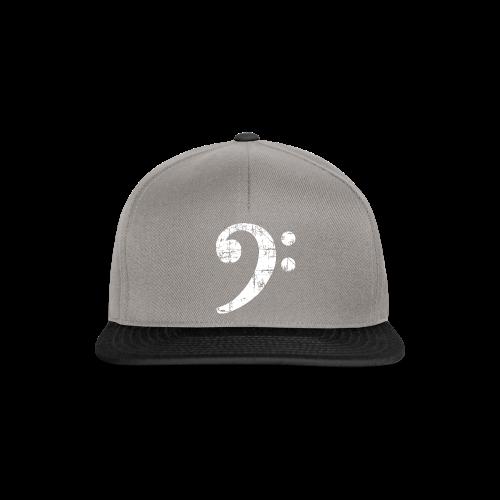 Bassschlüssel (Vintage Weiß) Bass Bio T-Shirt - Snapback Cap
