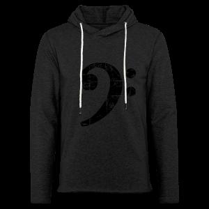 Bassschlüssel (Vintage Schwarz) Bass T-Shirt - Leichtes Kapuzensweatshirt Unisex