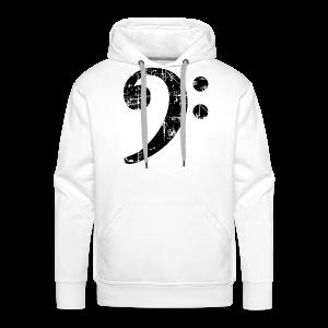 Bassschlüssel (Vintage Schwarz) Bass T-Shirt - Männer Premium Hoodie